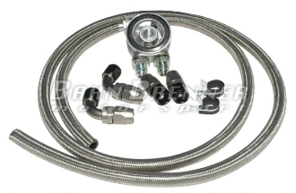 4cyl Universal Oil Cooler Kit - Stainless Steel
